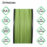 1.75mm 2KG-spool Greenery - Color of the Year 2017 FilaCube 3D Printer PLA 2 filament multiple kilograms multikilo