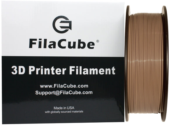 Grayish Brown PLA 3D Printer Filament 1.75mm 1kg - FilaCube Greyish Brown PLA 2 1.75 mm Printing Plastic, Made in USA Pantone PMS P 171-9 C P-171-9C…