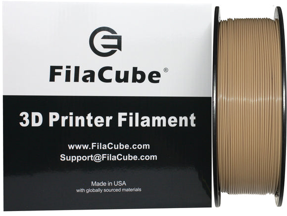 Iced Coffee 1.75mm 1KG FilaCube 3D Printer PLA 2 filament Light Brown Tan Beige Caramel latte