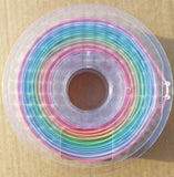 1.75mm 2KG-spool Rainbow FilaCube 3D Printer PLA 2 filament transition gradient multiple color multicolor splendid multiple kilograms multikilo
