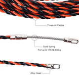 Tooltoo Household Fish Tape Pulling Wireman Wire Threader Cable