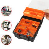 Tooltoo-Heavy-duty-Tool-Storage-Box-Organizer-Detachable-10-Slots-Plastic-Tool-Storage-Box-Two-layer-Components-Storage-Box-Black-and-Orange-1