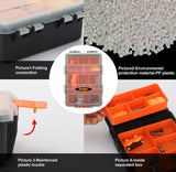 Tooltoo-Heavy-duty-Tool-Storage-Box-Organizer-Detachable-10-Slots-Plastic-Tool-Storage-Box-Two-layer-Components-Storage-Box-Black-and-Orange-6