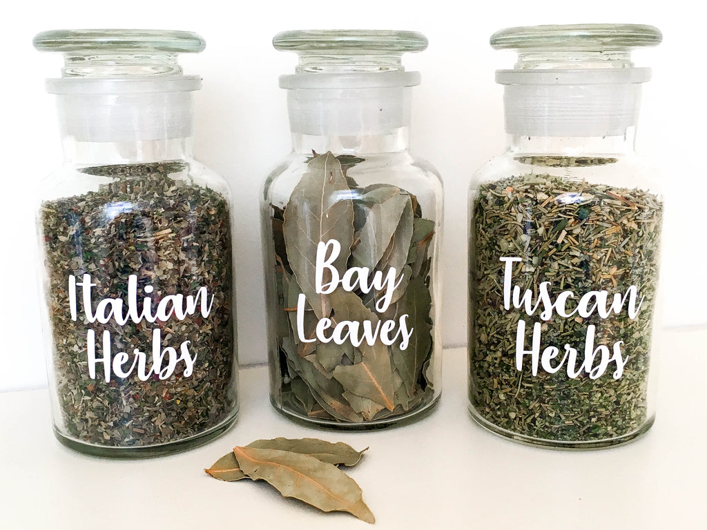 Spice Jar/Bottle Labels