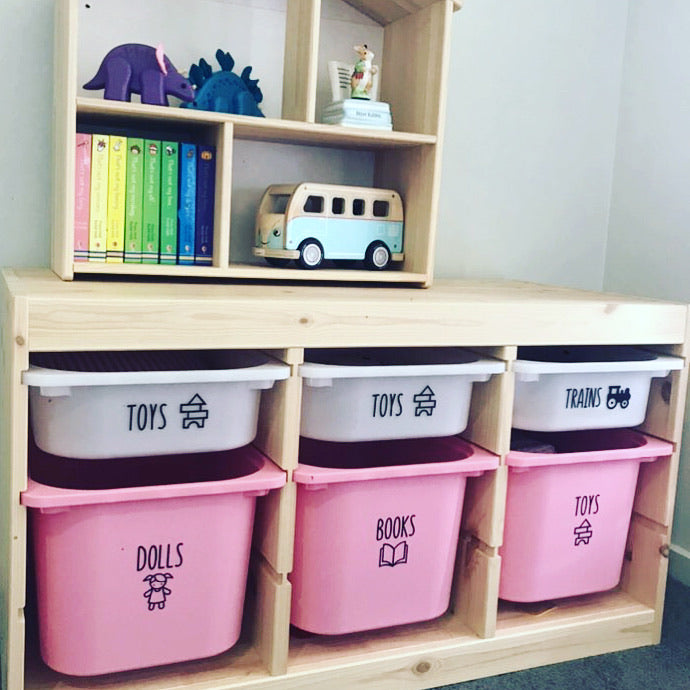 Toy Storage Labels with Pictures