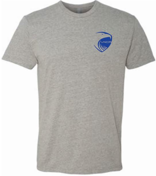 Men's Gray T-Shirt - Blue Logo