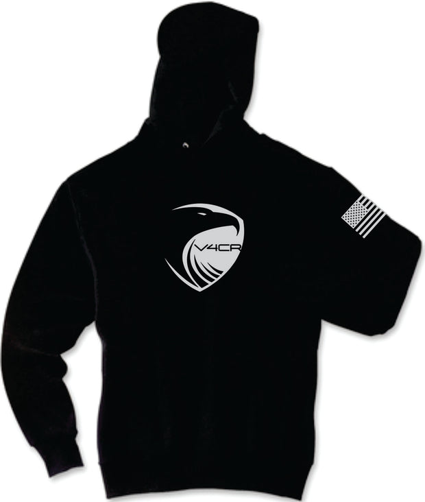 Men's V4CR Black Hooded Sweatshirts