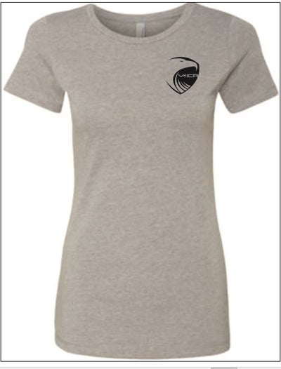 V4CR Women's Grey T-Shirt (Note: Shirt runs snug. For looser fit, please order one size up)