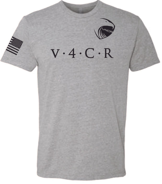 Men's V4CR Grey Crew T-Shirt
