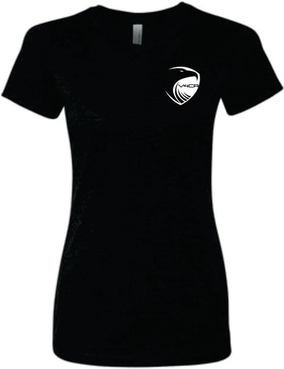 V4CR Women's Black T-Shirt (Note: Shirt runs snug. For looser fit, please order one size up)