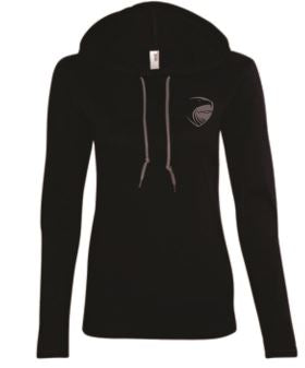 Women's Lightweight Long Sleeve Hooded Long Sleeve (Note: Shirt form fitting.  For looser fit, please order one size up)