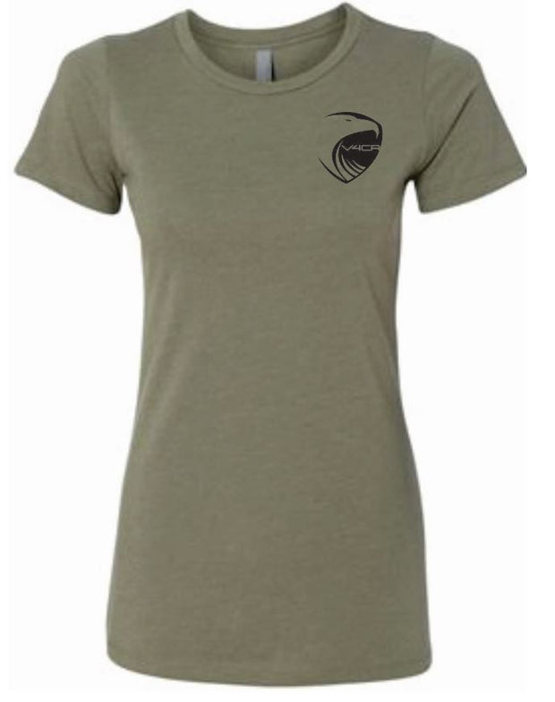 V4CR Women's Olive T-Shirt (Note: Shirt runs snug. For looser fit, please order one size up)