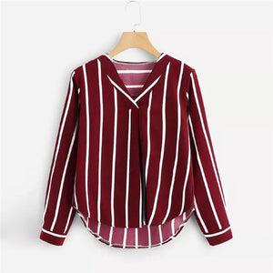 blouse rayures verticales
