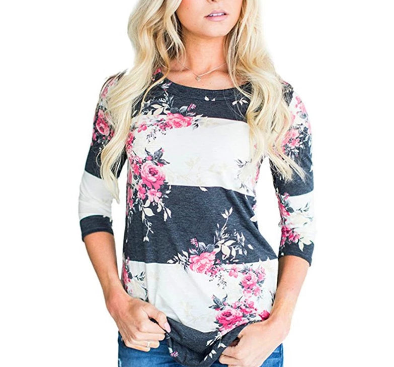 blouse casual imprime