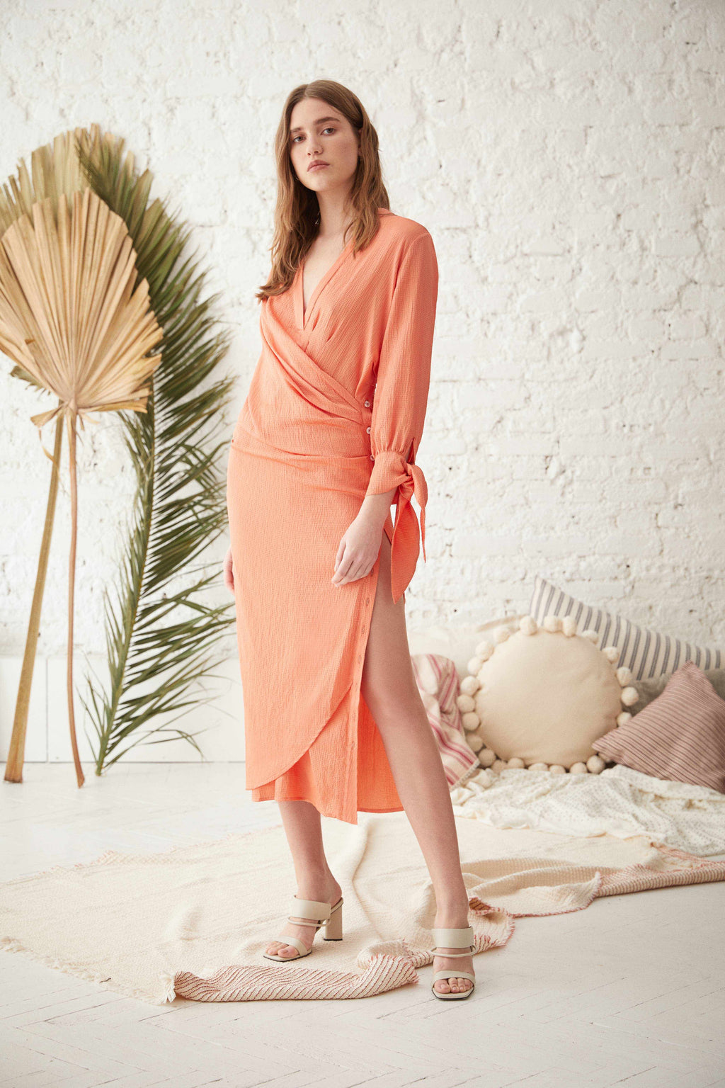 ANTIBES DRESS -LONG IN APRICOT / UZUN ANTIBES ELBİSE