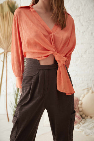 LALA TOP IN APRICOT  /  LALA BLUZ