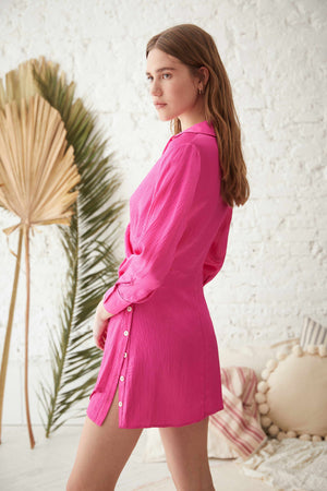 ANTIBES DRESS IN SILKY PINK / ANTIBES ELBİSE