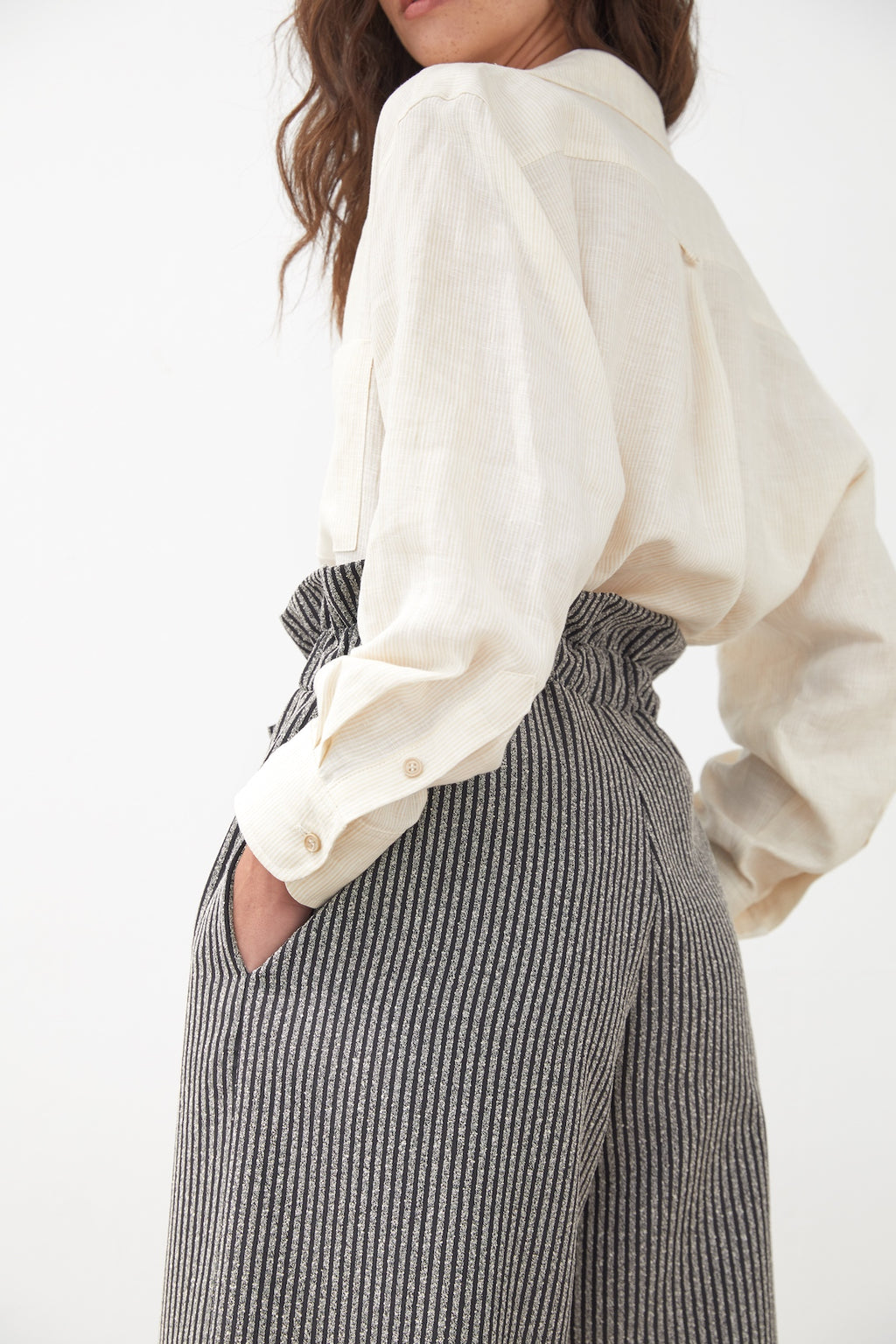 Linen Striped Fenn Shirt