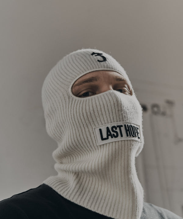 LAST HOPE balaclava white