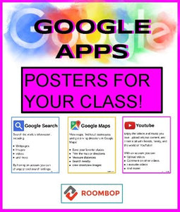Google App Posters for your class! - Roombop