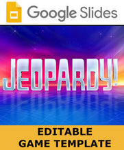 Load image into Gallery viewer, Google Slides - Jeopardy Game Template - Roombop