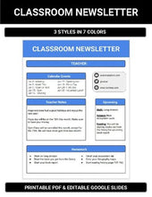 Load image into Gallery viewer, Google Slides - Classroom Newsletter - Roombop