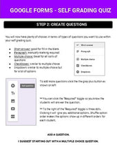 Load image into Gallery viewer, Google Forms - Self Grading Quiz Guide - Roombop