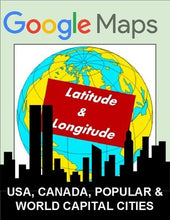 Load image into Gallery viewer, Latitude and Longitude: Cities Worksheet - Google Maps - Roombop