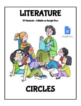 Digital Literature Circles Templates (Editable on Google Docs) - Roombop