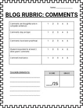 Load image into Gallery viewer, Blogger - Post Rubric and Comment Rubric - Roombop