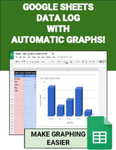 Load image into Gallery viewer, Google Sheets - Data Log with Automatic Graphs - Roombop