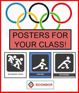Winter Olympics - Classroom Posters - Roombop