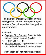 Load image into Gallery viewer, Winter Olympics - Classroom Posters - Roombop