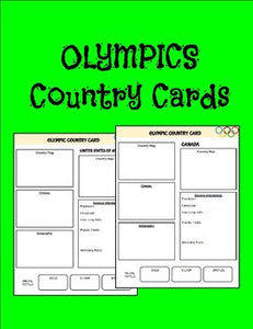 Olympic Country Cards - Roombop