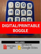 Load image into Gallery viewer, Digital/Printable Boggle Template (Editable on Google Slides) - Roombop