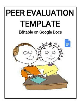12 Different Peer Evaluation Template (Editable Google Docs) - Roombop