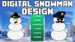Digital Snowman Design | Christmas Activity - Roombop