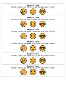 Emoji Exit Tickets - Roombop