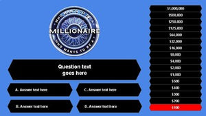 Who Wants to Be a Millionaire (Google Slides Game Template) - Roombop