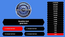 Load image into Gallery viewer, Who Wants to Be a Millionaire (Google Slides Game Template) - Roombop