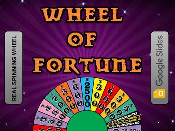 Wheel of Fortune (Google Slides Game Template) - Roombop