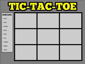 Tic Tac Toe Review (Google Slides Game Template) - Roombop