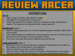Review Racer (Google Slides Game Template) - Roombop