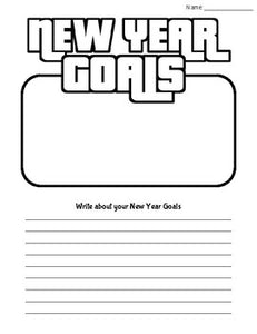 New Year Goals - Worksheets/Mind Maps - Roombop