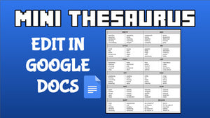 Mini Thesaurus (Editable on Google Docs) - Roombop