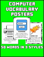 Load image into Gallery viewer, Computer Vocabulary Posters - Roombop