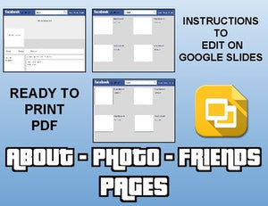 Facebook Template (Editable on Google Slides) - Roombop