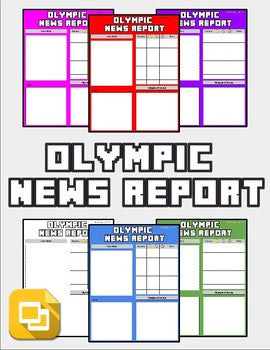 Olympic News Report (Editable in Google Slides) - Roombop