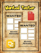Load image into Gallery viewer, Wanted Poster (Editable in Google Slides) - Roombop