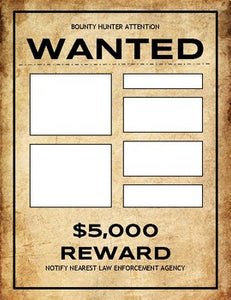 Wanted Poster (Editable in Google Slides) - Roombop